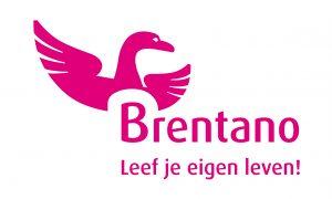 Brentano logo in knalroze magenta